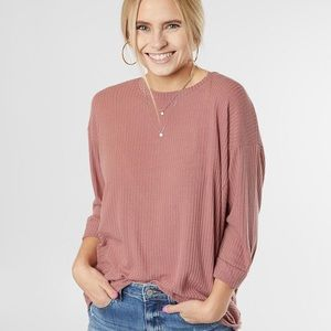 Buckle Daytrip Ribbed Knit Top